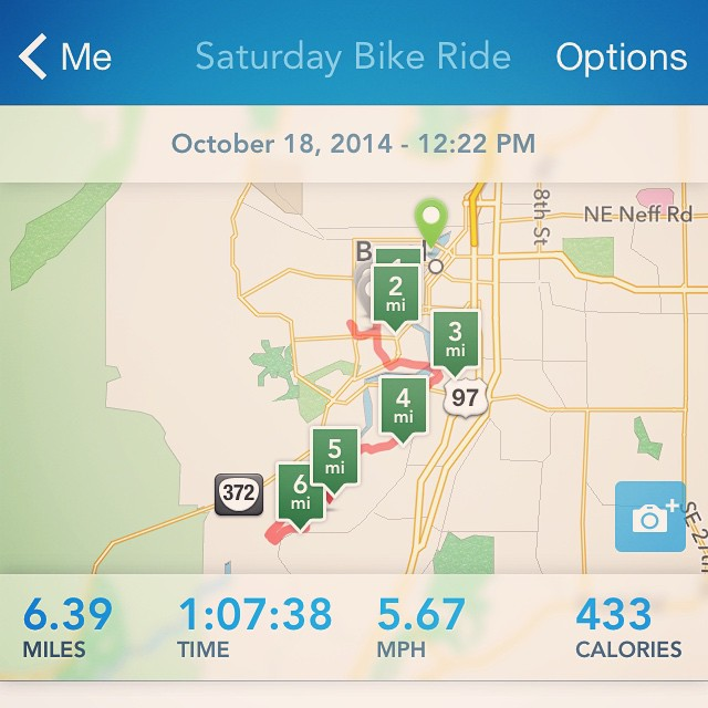 This was just the last half of today's ride. I forgot to record the first half. Rode all the way to downtown and back.