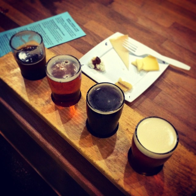 Beer from Deschutes paired with cheese from Blu. Nothing better!!